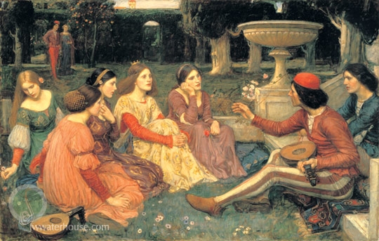 John William Waterhouse: A Tale from the Decameron - 1916