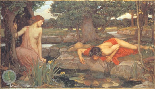 John William Waterhouse: Echo and Narcissus - 1903