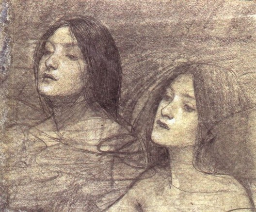 John William Waterhouse: Hylas and the Nymphs (study 2) - 1896