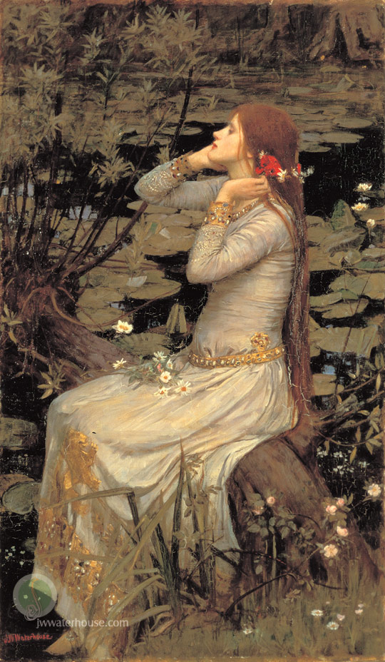 John William Waterhouse: Ophelia [by the pond] - 1894
