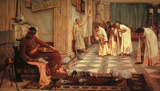 John William Waterhouse: The Favorites of the Emperor Honorius - 1883