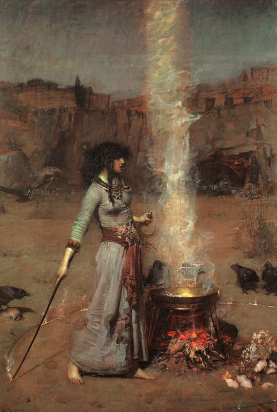 John William Waterhouse: The Magic Circle - 1886