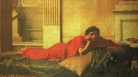 John William Waterhouse: The Remorse of Nero after the Murder of his Mother - 1878