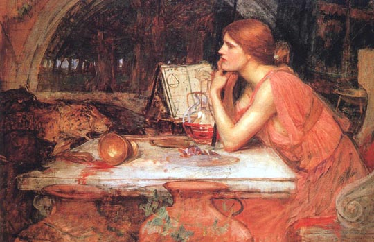 John William Waterhouse: The Sorceress - 1913