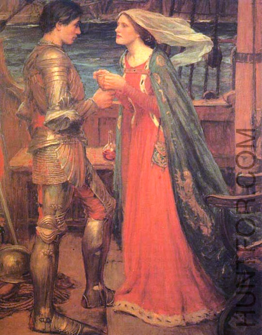John William Waterhouse: Tristan and Isolde - 1905
